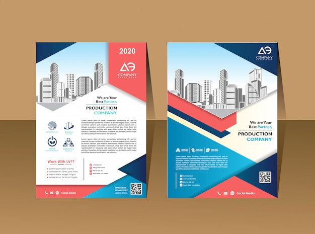 Бизнес брошюра фон дизайн шаблона листовка макет афиша журнал годовой отчет