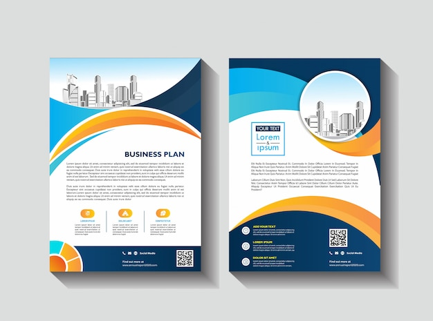 ビジネスパンフレットチラシテンプレート会社概要雑誌ポスター年次報告書&小冊子