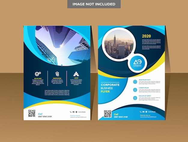 Брошюра дизайн обложки годовой отчет журнал флаер или буклет