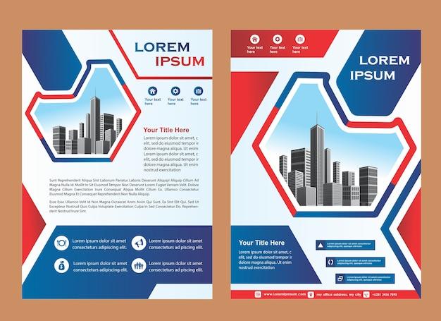 現代のビジネスパンフレットのレイアウトやチラシのテンプレートのカバー