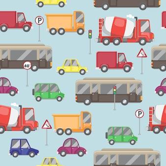 シームレスな車両と交通の背景
