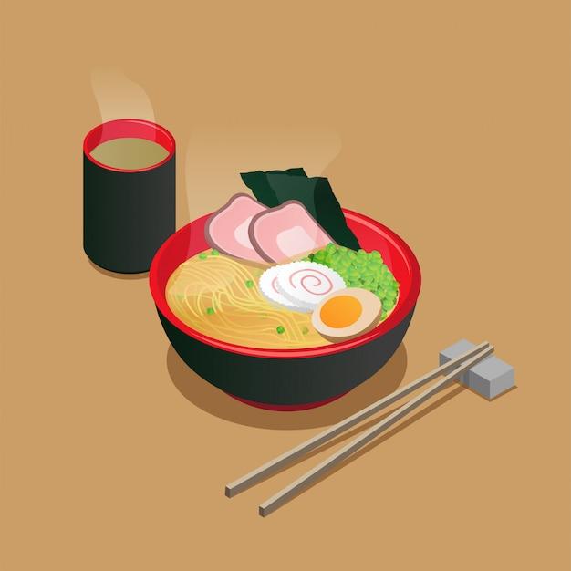 Изометрические японский рамэн
