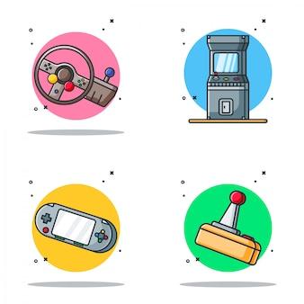Пакет иллюстраций игрового дизайна в мультяшном стиле