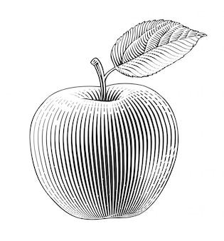 彫刻スタイルのアップル