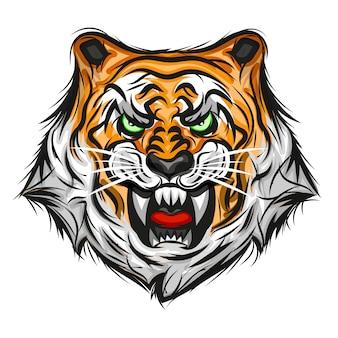 虎イラストプリント