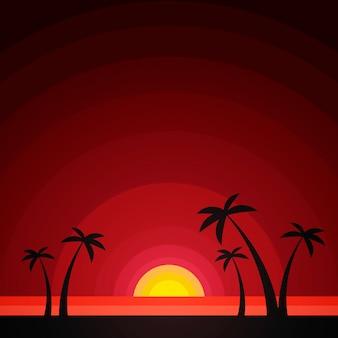 夏の熱帯のベクトル