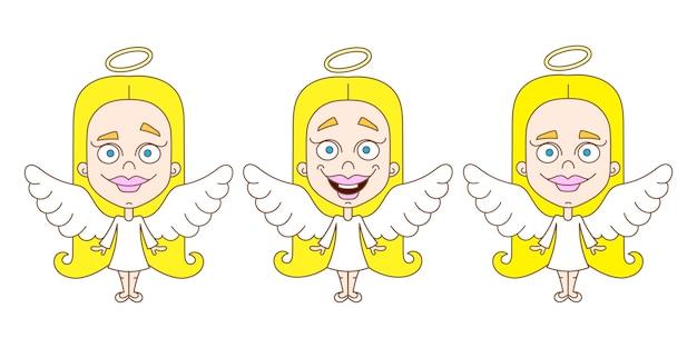 Маленькая девочка ангел набор