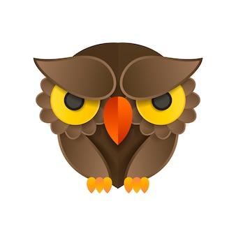 フクロウのロゴとアイコンのコンセプト