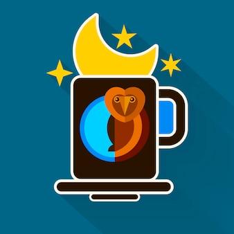 夜更かしと月のオリジナルデザイン
