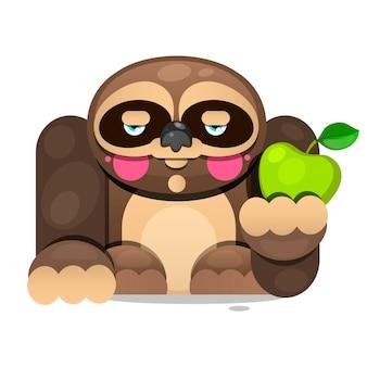 Милый мультфильм ленивец