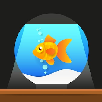 漫画の淡水魚