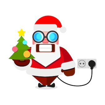 Рождество дед мороз электрический