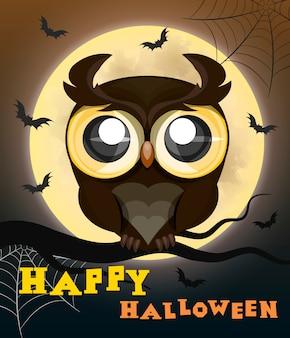 Хэллоуин плакат сова