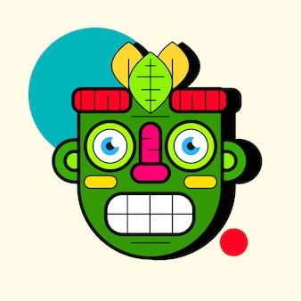 Идол маска. простая иллюстрация маски иконы для веб-дизайна