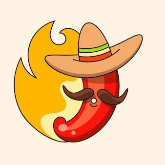 レトロなホットメキシコのアイコン。ファストフード。有機成分メキシコのタコス料理。