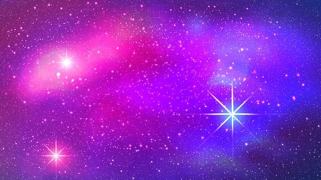 スペースバックグラウンドでカラフルな星雲。