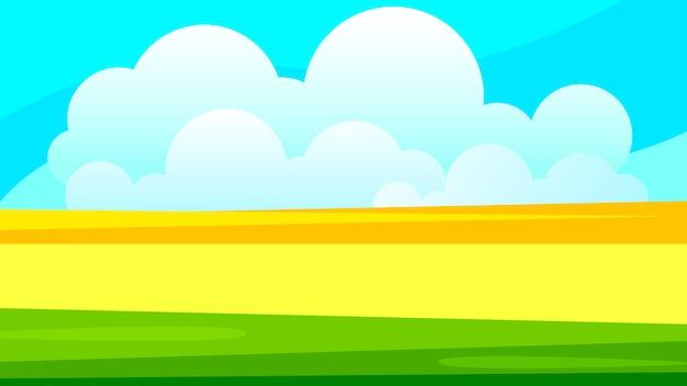 あなたのニーズに合った田舎の麦畑の風景イラスト