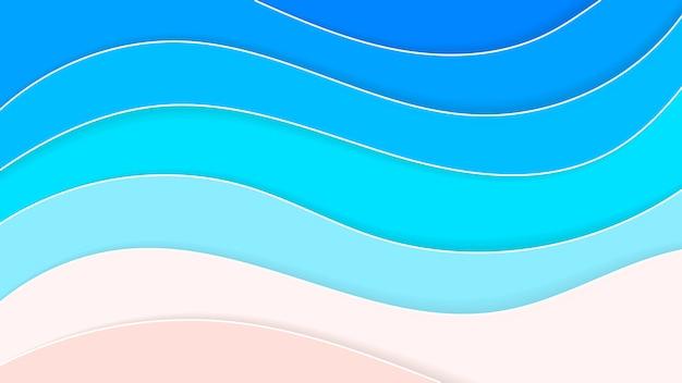 Абстрактный фон пляж в стиле бумаги