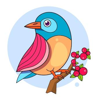 枝に鳥のデザイン