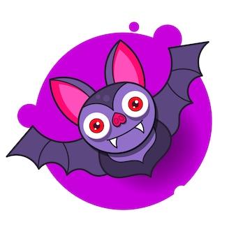 Абстрактная летучая мышь хэллоуин для оформления дизайна.