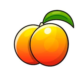 Спелые персики, целые и ломтик