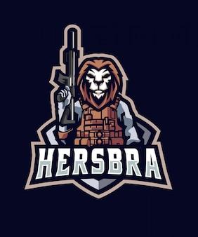 警察のライオンのロゴ