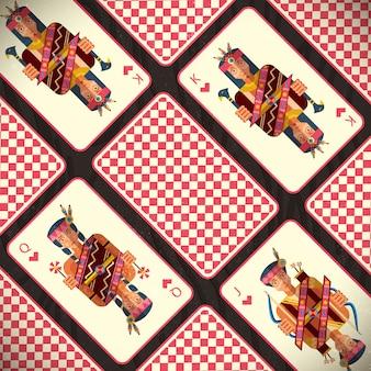 Набор декоративных карточных мастей