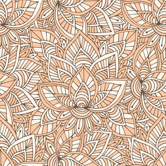 オーナメントインドのパターン。繊維のデザインのためのベクトルシームレスなテクスチャ