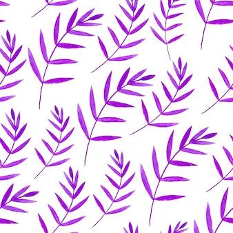 水彩シームレスパターン。花のベクトル手塗りの背景。