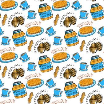手作りピーナッツバターシームレスパターン。