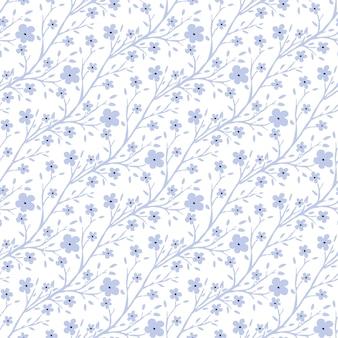 Векторные крошечные цветы шаблон. винтаж бесшовные модели для ткани или упаковки дизайн.