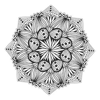 Декоративная цветочная мандала