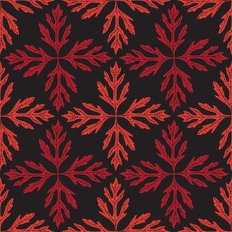 抽象的な葉のシームレスパターン