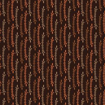葉のシームレスなパターン