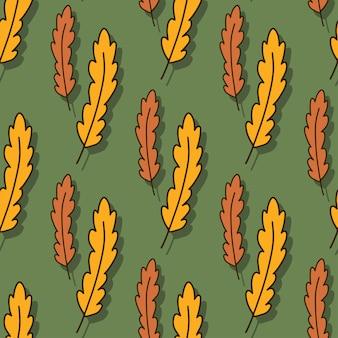 黄色とオレンジの葉のパターン