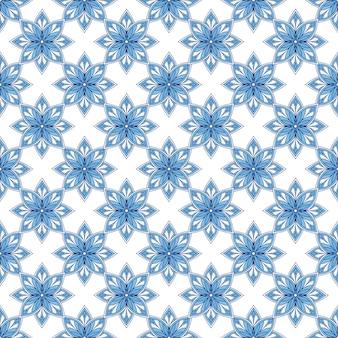 Арт-деко шаблон. арабески современный фон. повторяющийся орнамент в голубых тонах.