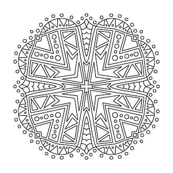 Мандала менди дизайн. страница книжки-раскраски.