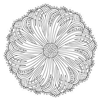 Декоративная мандала. этническая картина орнамента