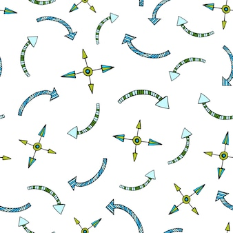 ベクトルの矢印シームレスなパターン。壁紙、パターン塗りつぶし、繊維、ウェブページの背景、表面のテクスチャ