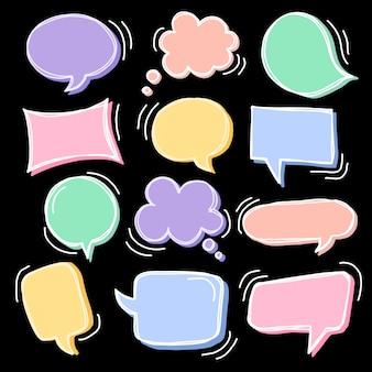Симпатичные речи пузырь каракули набор