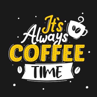 Это всегда время кофе надписи