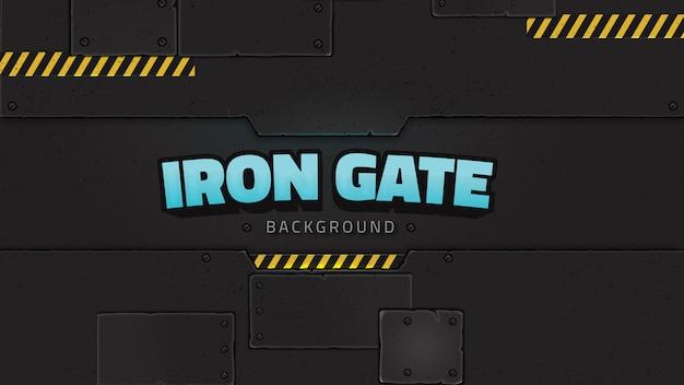 鉄の門の背景