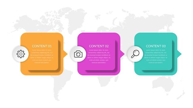 Простой плоский бизнес инфографики элемент дизайна