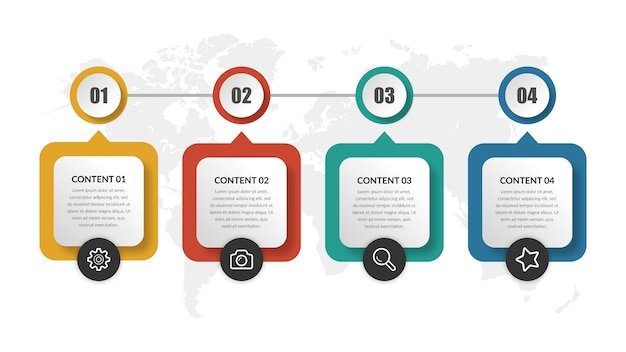 抽象的なタイムラインインフォグラフィック要素ビジネスプロジェクト