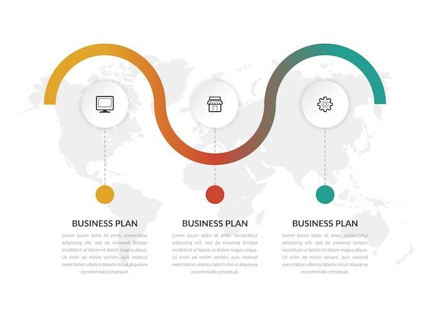 アイコンとインフォグラフィックベクトルテンプレートビジネスマーケティング