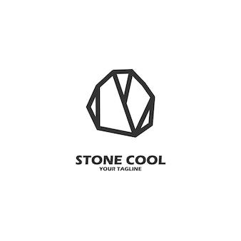 Каменный прохладный логотип