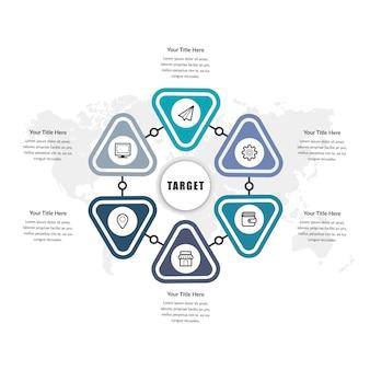 タイムラインインフォグラフィック要素の設計