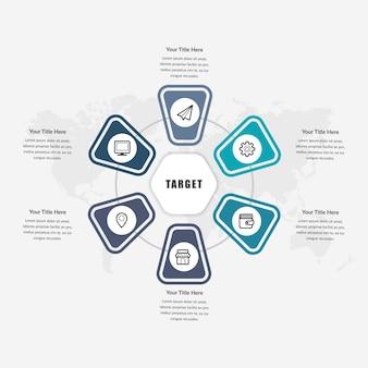 ビジネスのための抽象的なインフォグラフィック要素の設計