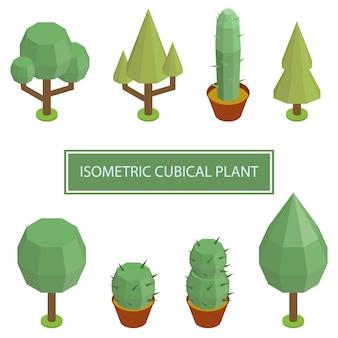 アイソメ植物木ブッシュ