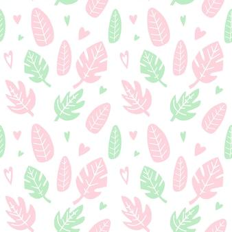 葉と心とのシームレスなパターン。